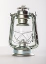 Kerosene lamp a on a grey background Stock Image