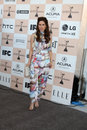 Kerri kasem los angeles feb arrives at the film independent spirit awards at beach on february in santa monica ca Stock Photography