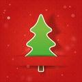 Kerstboom op een rode achtergrond Stock Afbeelding