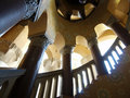 Kerstman Barbara County Courthouse Stairs Stock Foto's