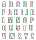 Kerstmis gestileerd alfabet Royalty-vrije Stock Afbeelding