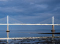 Kessock road bridge scotland over the beauly firth in late afternoon light on a cloudy day inverness uk g Royalty Free Stock Images