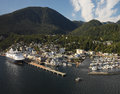 Ketchikan alaska usa aerial view of the port of in Stock Photography