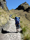 Ketchuan porter on the Inca Trail Royalty Free Stock Photo