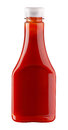 Ketchup bottle of on white background Royalty Free Stock Photo