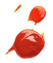 Ketchup stain fleck Royalty Free Stock Photo