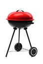 Kettle barbecue grill with cover Royalty Free Stock Images