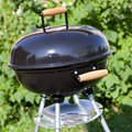 Kettle barbeque grill outside barbecue in summer garden nobody Royalty Free Stock Photography