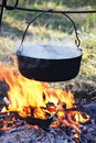 Kettle old in camping Royalty Free Stock Photo