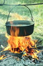 Kettle old in camping Royalty Free Stock Photography
