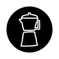 Kettle silhouette isolated icon