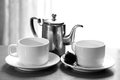 Kettle and tea cups Royalty Free Stock Photo