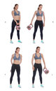 Photo : Kettlebell around the body shorts kettlebell both