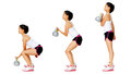 Kettlebell dumbell exercise Stock Photo