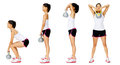 Kettlebell dumbell exercise Royalty Free Stock Images
