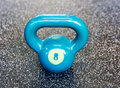 Kettlebell in the gym Royalty Free Stock Photo
