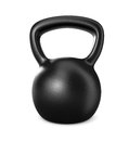 Kettlebell one black on white d render Stock Photo