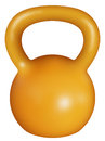 Kettlebell realistik design of an orange instrument Stock Photo