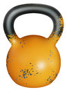 Kettlebell realistik design of a in used condition instrument Stock Photo
