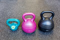 Kettlebells in the gym Royalty Free Stock Photo