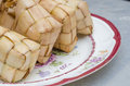 Ketupat or packed rice dumpling Stock Image