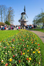 The keukenhof flower garden lisse netherlands april tourists are visiting in spring is a popular which is Stock Images