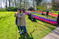 The keukenhof flower garden lisse netherlands april tourists are visiting in spring is a popular which is Royalty Free Stock Photography