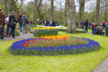 Keukenhof gardens the netherlands april tourists are visiting the in the spring it is a popular flower garden which is visited Royalty Free Stock Images