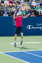 Kevin anderson plays center court at the winston salem open Royalty Free Stock Images