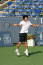 Kevin Kim: Pro Tennis Player Forehand Stock Photo