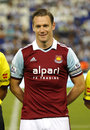 Kevin nolan of west ham united posing before a friendly match against rcd espanyol at the estadi cornella on september in Stock Photography