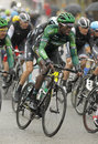Kevin reza of team europcar rides during the tour catalonia cycling race through the streets monjuich mountain in barcelona Stock Photos