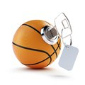 Key basketball ball on a white background Stock Images