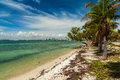 Key biscayne beach pretty along the rickenbacker causeway in in miami Stock Photo