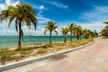 Key biscayne beach pretty along the rickenbacker causeway in in miami Stock Photos