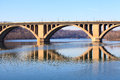 Key bridge washington dc the francis scott commonly known as the is a six lane reinforced concrete arch between arlington Stock Photography