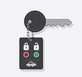 Key car chain with remote Stock Image