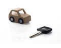 Key and Car wooden. Stock Images
