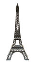 Key chain souvenir from metal Eiffel Tower Paris isolated Royalty Free Stock Photo