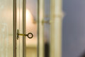 Key in the door lock Royalty Free Stock Photo