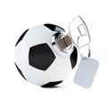 Key football soccer ball on a white background Stock Photo