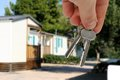 Key from summer cottage. Royalty Free Stock Photo