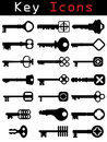 Key Icon set Royalty Free Stock Photo