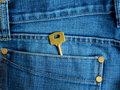 Key in jeans Stock Photos