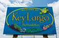 Key largo fl circa welcome sign over the us in key largo circa the florida keys are a very popular tourist destination with over Royalty Free Stock Image
