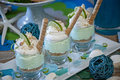 Key lime dessert this is a with whip cream macadamia nuts and limes with a graham cracker crust Royalty Free Stock Image