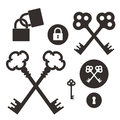 Key. Lock. Icon set Royalty Free Stock Photo