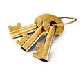 Key old isolated on a white background Royalty Free Stock Photography