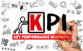 Key performance indicator concept hand drawing on whiteboard Royalty Free Stock Images