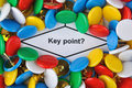 Key point question Royalty Free Stock Photo
